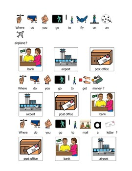 Where Do You Go...? Worksheets