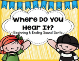 Where Do You Hear It? Beginning & Ending Sound Sorting