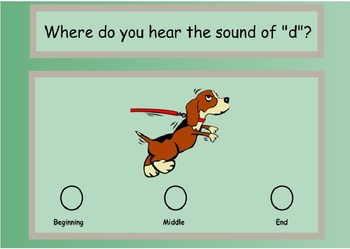 "Where Do You Hear the Sound of ""d""? A SMARTBoard Lesson"