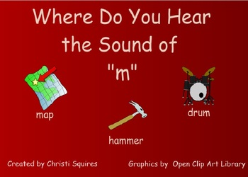 "Where Do You Hear the Sound of ""m""? A SMARTBoard Lesson with PDF"