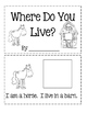 Where Do You Live? ~ Cut And Paste Book