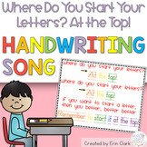 Where Do You Start Your Letters? Handwriting Song