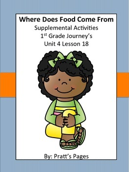 Where Does Food Come From 1st grade Supplemental for Journey's Unit 4 Lesson 18