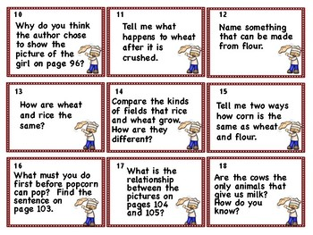 Where Does Food Come From Comprehension Connections A Storybook Companion