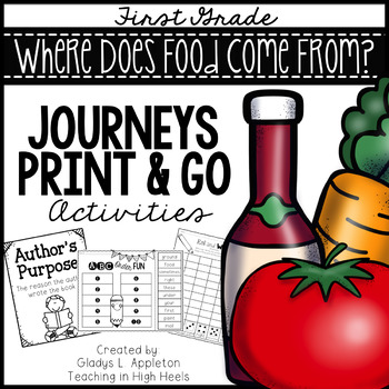 Where Does Food Come From? First Grade Journeys Print and Go Activities