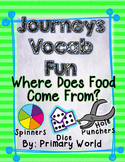 Where Does Food Come From?, Journeys First Grade Unit 4 Lesson 18 Vocabulary