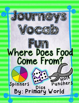 Where Does Food Come From?, Journeys First Grade Unit 4 Le