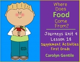Where Does Food Come From? Journeys Unit 4 Lesson 18 1st Gr. Supplement Act.