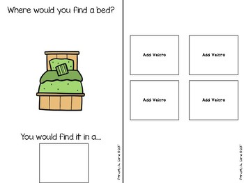 Where Does It Belong (An Adapted Book for Categorizing Items in the Household)
