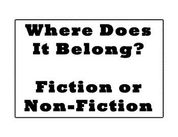 Where Does It Belong? Fiction or Non-Fiction