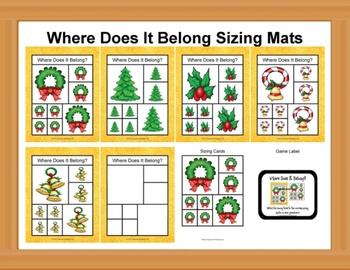 Where Does It Belong Sizing Mats - Christmas