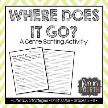 Where Does it Go? - Genre Sorting Activity