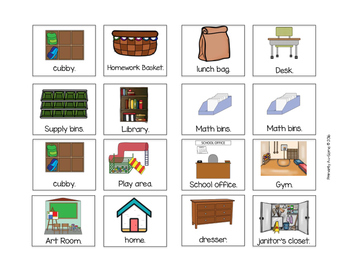 Where Does It Go (An Adapted Book for Categorizing School Items)