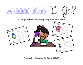 Where Does It Go (An Adapted Book for Putting Away Househo