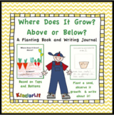 Plant Parts to Eat From Top to Bottom - A Collage Book and Writing Journal