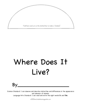 Where Does It Live? Habitat Theme Book for Students to Make