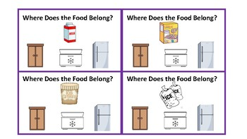 Where Does the Food Belong Task Cards? (Clothes Pins)