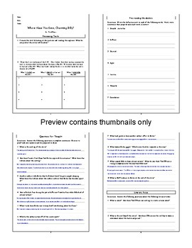 Where Have You Gone, Charming Billy? by Tim O'Brien Lesson Plan, Questions, Key