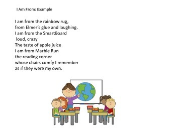 End of the Year Activities: Poem: Where I Am From