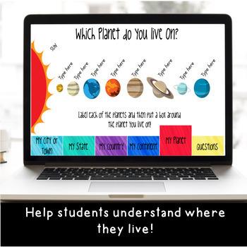 Where I Live DIGITAL Flip Book: A Map Skills Activity for Google Classroom