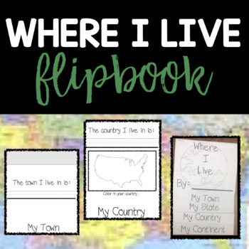 Where I Live Flip Book By Midwest Firsties Teachers Pay Teachers Most smart phones and high quality cameras have a quick shutter setting that will work perfectly for a flipbook animation. usd