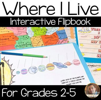 Where I Live Flip Book: A Social Studies Map Skills Activity for Grades 2-5