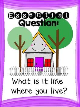 Where I Live - Wonders First Grade - Unit 1 Week 2
