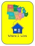 """""""Where I Live"""" Worksheet for Preschool"""