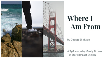 Where I'm From (Poetry Mini-Lesson & Introducing Yourself Activity)
