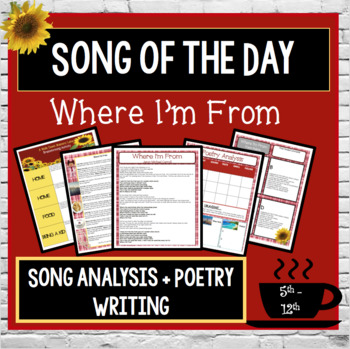 Where I'm From Song Analysis and Poetry Writing