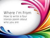 Where I'm From Poetry Lesson