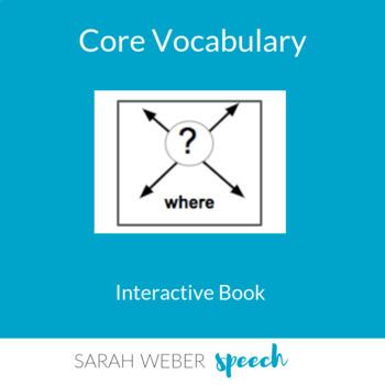 Where- Interactive Core Vocabulary Book