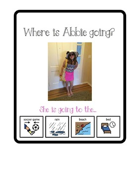 Where Is Abbie Going? Adapted Book for Students with Special Needs