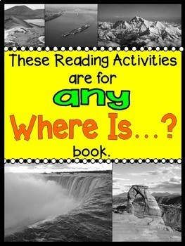 Where Is...? Books: Reading Activities for ANY Where Is...? Natural Wonders Book