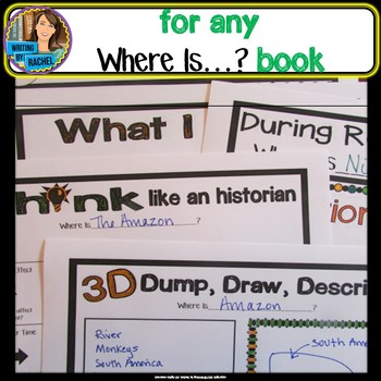 Where Is Books- Reading Activities for ANY Where Is Natural Wonders Book