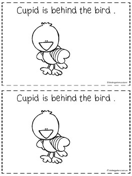 Where Is Cupid?  -A Positional Word Booklet