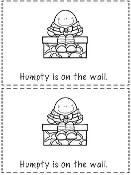Where Is Humpty? -2 Positional Word Booklets