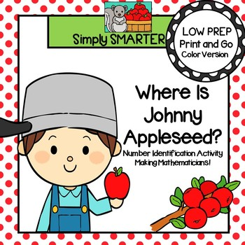 Where Is Johnny Appleseed?:  Low Prep Number Identification Activity