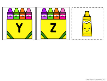 Where Is Mr. Crayon?  Letter Name & Letter Sound Identification Freebie
