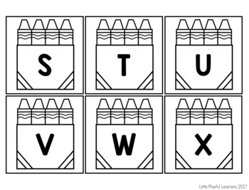 Where Is Mr. Crayon? Letter Name & Letter Sound Identification Freebie {B&W}