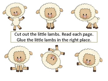 """ESL Newcomers: A Positional Word Activity""""Where Is My Little Lost Lamb?"""""""