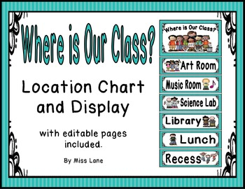 Where Is Our Class? Location Chart – Blue