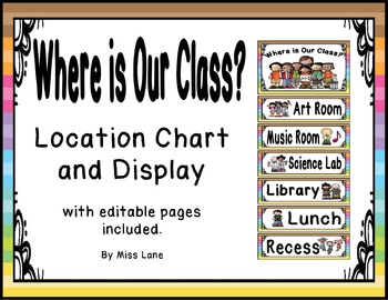 Where Is Our Class? Location Chart – Multicolored