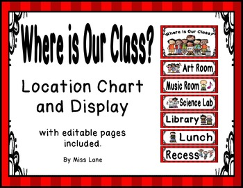 Where Is Our Class? Location Chart – Red