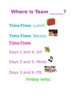 Where Is Our Team? (Editable!)