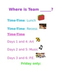 Where Is Our Team? (Editable!)