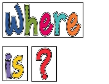 Where Is? (Pocket Chart Activity)