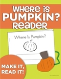 """Where Is Pumpkin? Position Word Interactive """"Make & Read"""" Book"""
