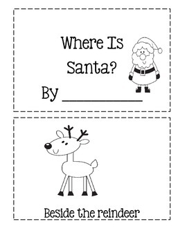 Where Is Santa?  ~ Cut And Paste Book