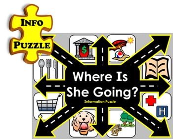 Where Is She Going INFO PUZZLE (English Communication Game)